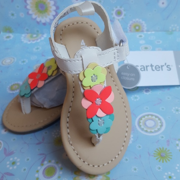 New Girls Carters Sandals Size 4